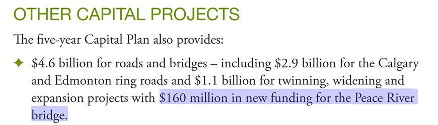Twin Peace River bridge