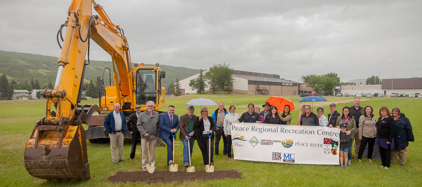 Peace Regional Recreation Centre Ground Breaking
