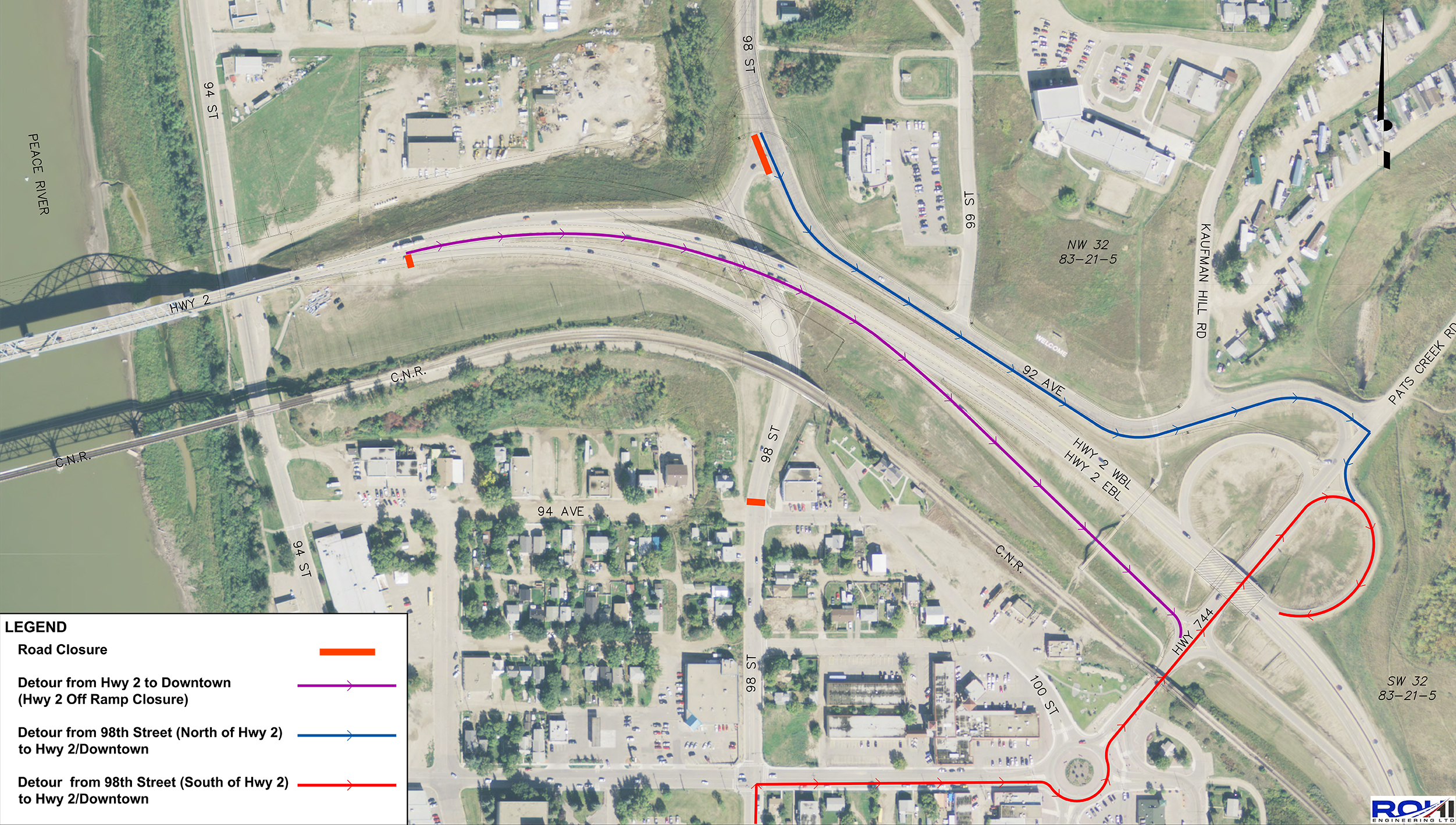 98 Street Underpass & Ramps Closed | Town of Peace River