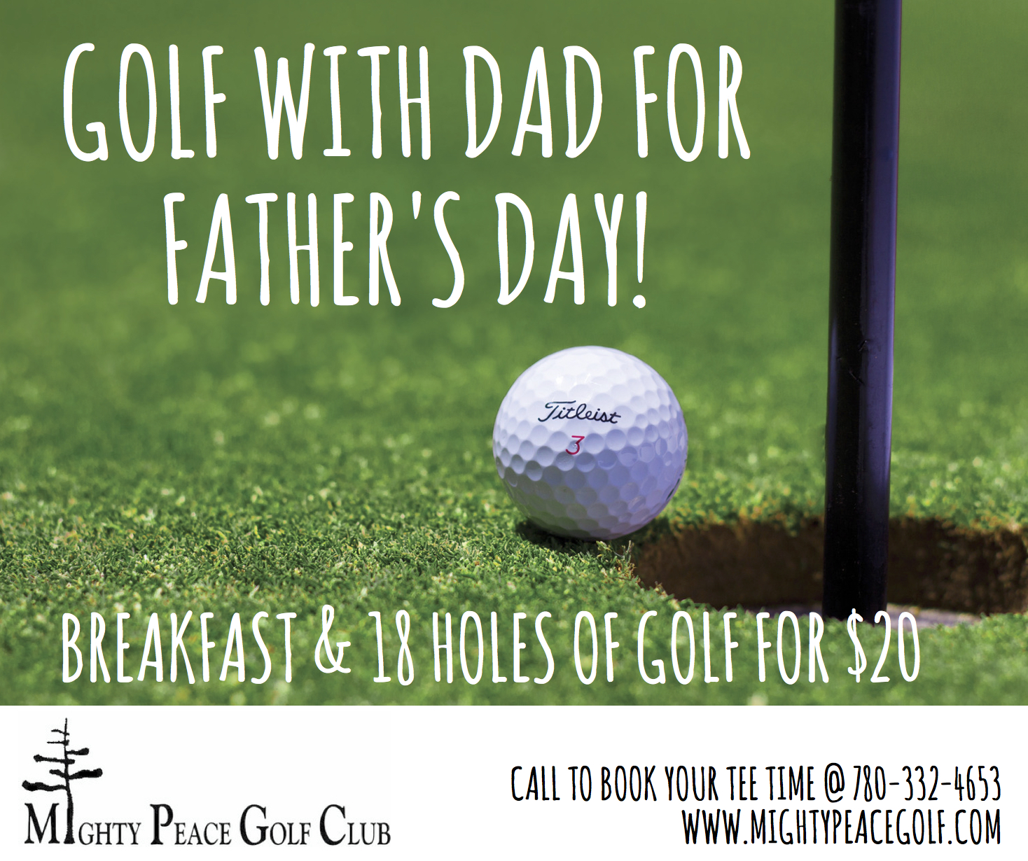 golf with dad for father s day town of peace river