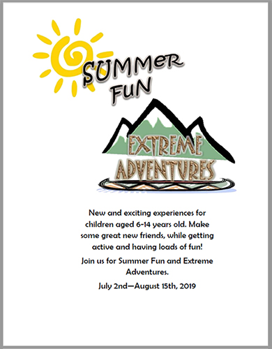 Click to download a PDF copy of the Summer Fun and Extreme Adventures guide