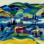 Horses at the Peace River - Rena Gordey